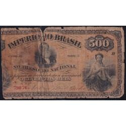 Brasil 500 Reis 1874 P-A242 M