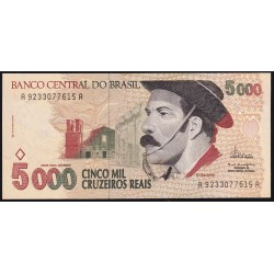 Brasil 5000 Cruzeiros Reales 1993 P241 UNC