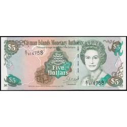 Islas Cayman 5 Dolares 1998 P22a UNC