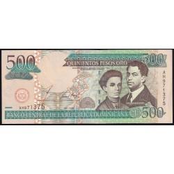 Republica Dominicana 500 Pesos Oro 2002 P172a EXC