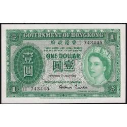 Hong Kong 1 Dollar 1955 P324Aa UNC