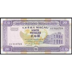 Macau 20 Patacas 1999 P71a UNC