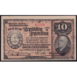 B1014 10 Centavos 1890 (1893) Firmas Santamarina - Achaval EXC+