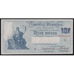 B1629 10 Pesos Caja de Conversion B 1929