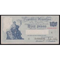 B1636 10 Pesos Caja de Conversion C 1935 UNC